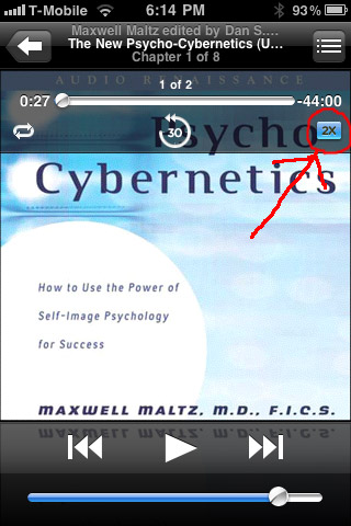 Psycho-Cybernetics Audio Book Screenshot
