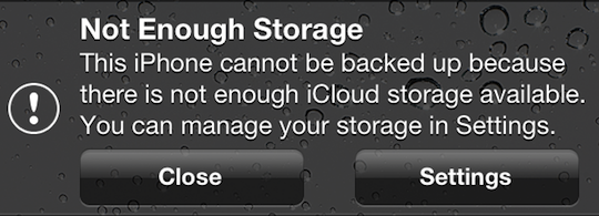 Can T Backup Your Iphone Ipad Or Ipod Touch To Icloud