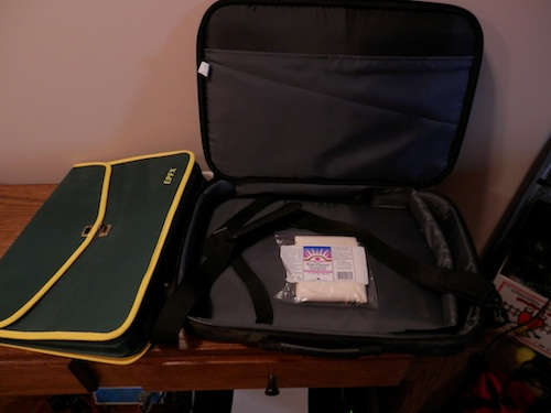 Convenient carrying cases for the SCIO and the laptop
