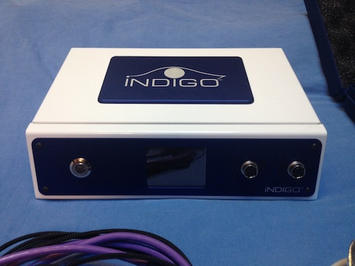 A closeup of the Quantum Biofeedback Indigo device