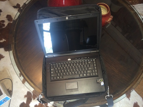 The carrying case for the Quantum Computers laptop is a perfect fit!