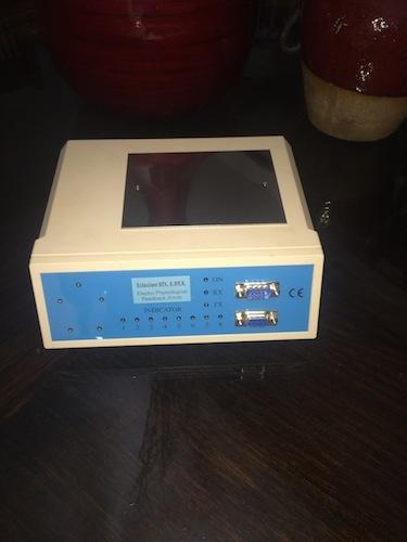 A closeup of the Quantum Biofeedback SCIO EPFX device