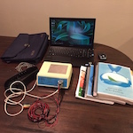 Quantum Biofeedback SCIO EPFX with an awesome Sony VAIO laptop, 1 head harness, 4 limb strap cords (4 BRAND NEW limb straps are included, but not pictured), and 3 SCIO manuals