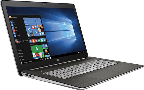 A side view of this very cool HP laptop